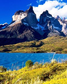 Lake Pehoe,Magallanes Region,southern Chile: