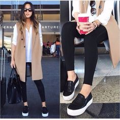 tan vest sporty casual outfit, Coats and vests styling ideas http://www.justtrendygirls.com/coats-and-vests-styling-ideas/