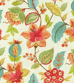 Home Decor  Print Fabric- Richloom Studio  Anamarie Aspen  Perfect for Mudroom or Sunroom!
