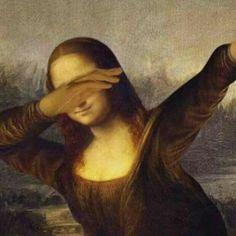 dab, monalisa, and mona lisa image Memes Arte, Classical Art Memes, History Memes, Art History, Le Dab, Art Fauvisme, Mona Lisa Parody, Mona Lisa Smile, Great Memes