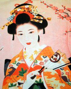 Geisha Paintings | Geisha w Sensu New Japan Art Bag Sling Purse Tote s L | eBay