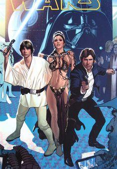 San Diego Comic-Con Star Wars Program salave leia adam hughes