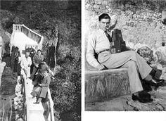 Αριστερά : Λεωνίδας Εμπειρίκος, Κίμων Εμπειρίκος και Ανδρέας στο Saut du Loup της Ελβετίας. Δεξία : ο Ανδρέας Εμπειρίκος στις Προσθαλάσσιες Αλπεις, ..