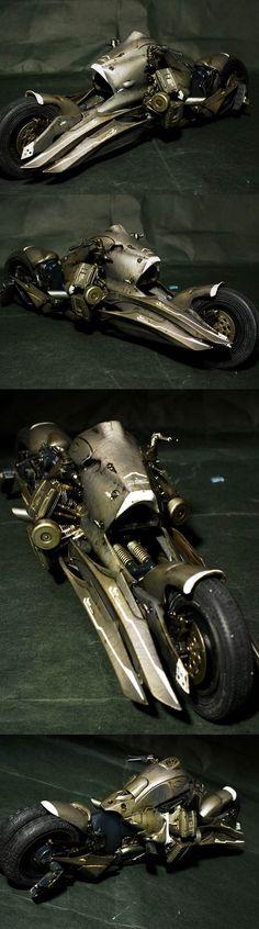 photo 2/2: Armor Rider Type MMS: Scratchbuild Work by Sakanatu. #SciFi #Bike