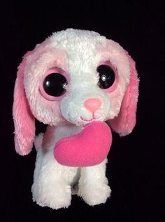 c87db6ae2c9 Ty Beanie Boos Cookie Pink Heart Valentine Dog Plush 6