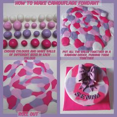 Camouflage Fondant Tutorial by Wish I Had A Cake