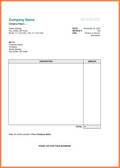 Free Printable Business Invoice Template - invoice format in excel