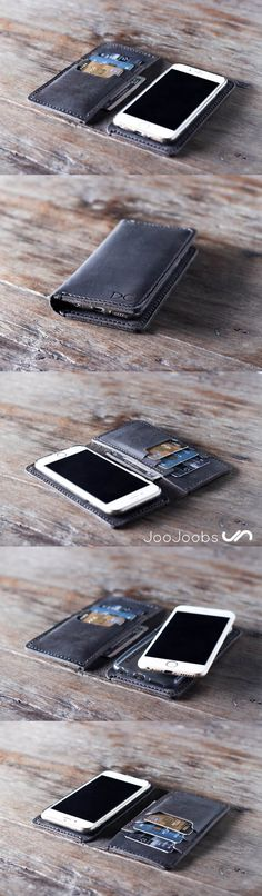 Need an #awesome gift for a birthday or anniversary? Look no further. Handmade, leather iPhone wallet cases from JooJoobs are the perfect gift for any occasion. #wallet #phone #case