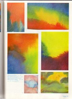 Wet On Wet Painting, Painting & Drawing, Watercolor Paintings, Crayon Drawings, Chalk Drawings, Painting Lessons, Art Lessons, 3rd Grade Art, Grade 2