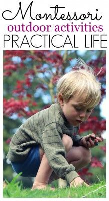 This post includes 10 Outdoor Practical Life Activities for the Montessori classroom. Bringing Practical Life Outside is simple! Maria Montessori, Waldorf Montessori, Montessori Homeschool, Montessori Classroom, Montessori Toddler, Montessori Activities, Classroom Activities, Learning Activities, Homeschooling