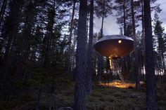The UFO, Treehotel - Harads, Sweden