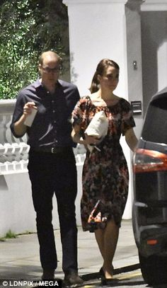 The Cambridges arrived for dinner on Thursday night at the £17 million West London home Pi...