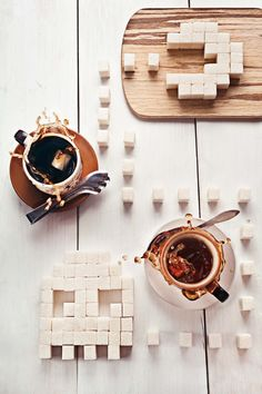 image made from Sugar Cubes - 8 bit teatime (Pac-Man) by ~dinabelenko on deviantART Coffee Photography, Food Photography, Object Photography, Product Photography, Lifestyle Photography, Creative Photography, Coffee Cafe, Coffee Shop, Coffee Barista