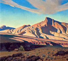 Home of the Desert Rat, by Maynard Dixon, 1944-45, oil and canvas, genre: Impressionism, Tonalism