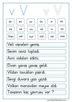 Preschool Writing, Writing Activities, Activities For Kids, Learn Turkish, Turkish Language, Homeschool, Student, Humor, Learning