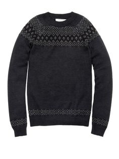 Patrik Ervell Icelandic Sweater faded black