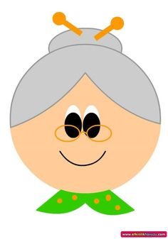 grandparents day crafts for preschoolers grandmother craft with template Grandparents Day Cards, Diy Ugly Christmas Sweater, Kids Background, Cartoon Eyes, Family Theme, Cute Cartoon Wallpapers, Holidays And Events, Preschool Activities, Coloring Pages