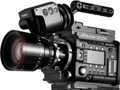 The Sony F55 digital camera outfitted with Panavision accessories and lenses.