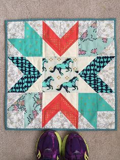 Steel and Cotton Mini quilt