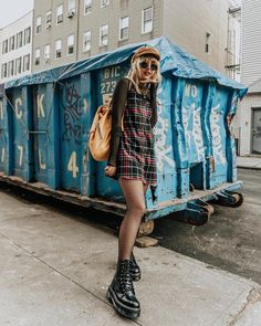 "4,042 Likes, 49 Comments - Nicole Alyse (@nicolealyseee) on Instagram: ""A little girly, a little grungy @motelrocks plaid dress over a @missguided mesh top, yellow…"""