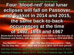Blood Moons in 2014 2015 | Calendar 2014-2015 Four Blood Moons What is about to take place? http ...
