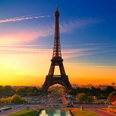 Eiffel Tower At Sunrise #iPad #Air #Wallpaper | If you want to get more ,click it :http://www.ilikewallpaper.net/ipad-air-wallpaper/