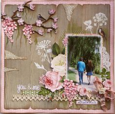 You & Me **Websters Pages DT** - Scrapbook.com A little too busy for me but I really love some of the techniques