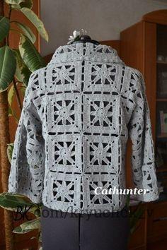 Crochet Coat, Crochet Winter, Crochet Jacket, Crochet Cardigan, Crochet Clothes, Crochet Square Patterns, Crochet Stitches Patterns, Crochet Squares, Crochet Motif