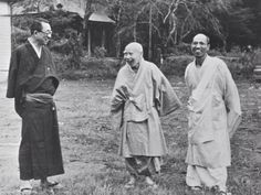 Sensei Toda with highest priest Nichiko, 1956