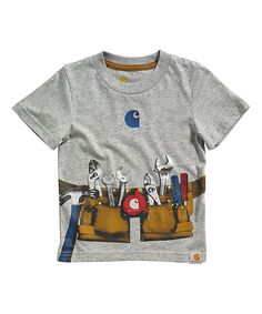 Carhartt Heather Gray Tool Belt Tee - Toddler | zulily