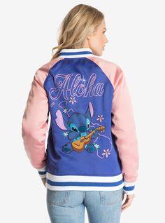 "Say ""Aloha"" To This Cute 'Lilo & Stitch' Bomber Jacket"
