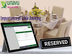 #UnavuApp is an online table booking,POS,online ordering, events managing system which help restaurants to manage all booking details and sales. click here to see:http://unavuapp.com/blog/importance-of-table-booking