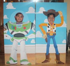 Hand Painted Buzz Lightyear and Woody Face Cutouts #toystory #buzzlightyear #woody