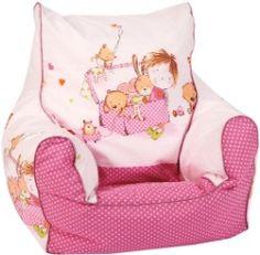 Ein Sitzsack ist ein richtiger Hingucker im Kinderzimmer! Besonders niedlich und bequem ist dieser hier von knorr-baby.