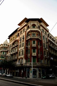 Orientalist architecture, The old buildings of Alexandria, #Egypt Old Egypt, Cairo Egypt, Ancient Egypt, Amazing Buildings, Old Buildings, Old Building Photography, Countries Around The World, Around The Worlds, Life In Egypt