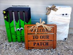 Halloween Pallet/ Crate Friends