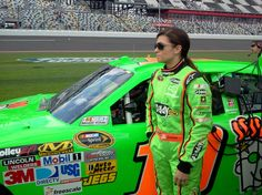 Wow @DanicaPatrick blends in like a cameleon with her car! -JR
