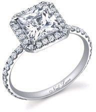 Neil Lane princess cut halo engagement ring
