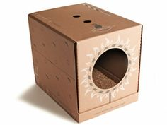 Easy to setup, Poopy Cat is Dutch made in interesting looking cat waste boxes to quickly set up and disposing of cat litter. #cat #box #litter #poopy