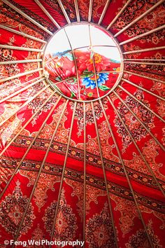 Circular Ceiling of A Kazakh Yurt (Explore 06-10-2012) by Feng Wei Photography, via Flickr