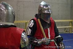 Flanged mace.  Full contact medieval fighting with steel weapons. Montreal Can.  2015  Battle of nations.