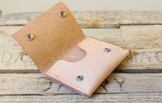 Natural Veg Tan Leather Wallet / Mens by SageandPineLeather