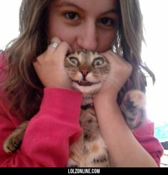 My favorite picture of my girlfriend and her cat.#funny #lol #lolzonline