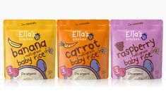 Ella's Kitchen rolls out new baby dry cereals packaging design
