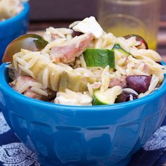 Greek Chicken and Orzo Salad #WeekdaySupper #ChooseDreams