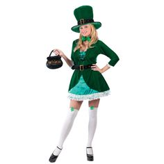 You certainly will be a lucky charm this year in this gorgeous Luscious Leprechaun Costume, a fantastic outfit for St Patrick's Day or for an Irish fancy dress party. St Patrick's Day Costumes, Irish Costumes, Sexy Halloween Costumes, Adult Costumes, Costumes For Women, Costume Ideas, Holiday Costumes, Diy Costumes, Leprechaun Costume