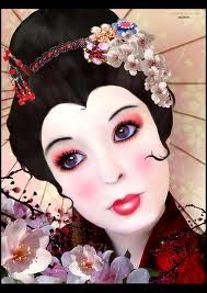 Geisha paintings are beautiful