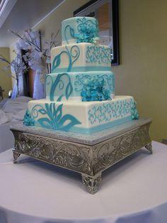 Buttercream Teal Cake
