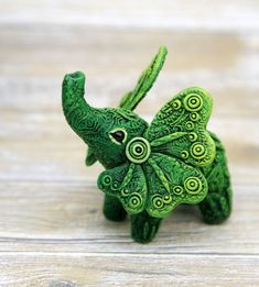 Elephant Figurine Animal Sculpture by Evgeny Hontor, Totem polymer clay figures for Home decor, polymer clay animal for collecting. Painted and unpainted Animal Sculpture gifts for dragon lovers. Look at the best collection of 800+ miniatures of fantasy creatures, beasts and aliens #Elephant