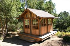 Tea house cabin in the woods by Molecule Tiny Homes
